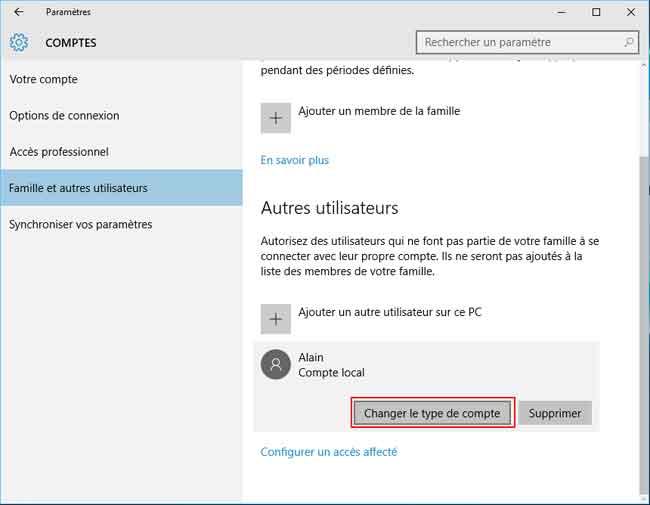 Windows 10 cr ation d 39 un compte utilisateur local - Comment classer ses photos avec windows 10 ...