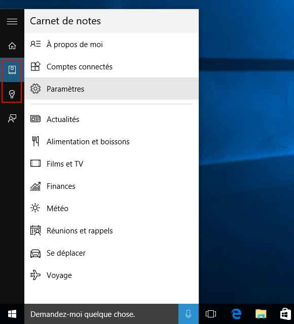 Windows 10 - Recherche - Cortana