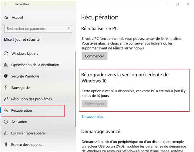Windows 10 - Mise à jour 1903