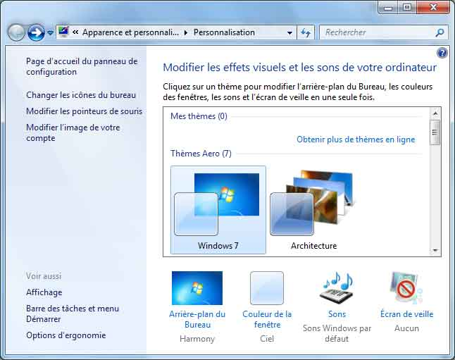 Windows 7 - Affichage
