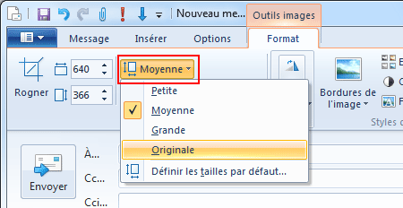 Windows Live Mail : Insérer une photo