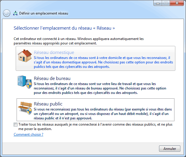 windows 7 : Réseau