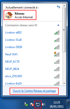 Réseau Windows 7