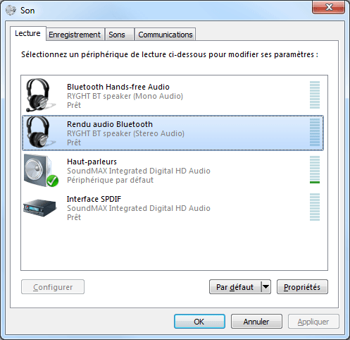 Windows 7 : Bluetooth