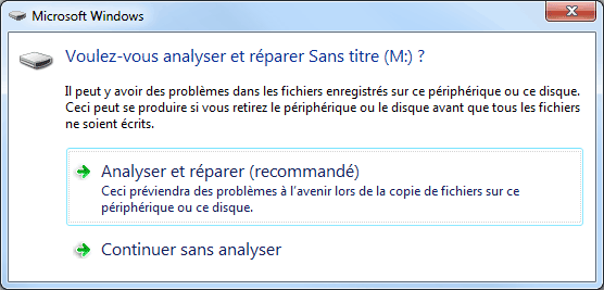 Windows 7 - Analyser et réparer