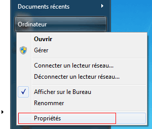 Windows 7 : Ordinateur, Propriétés
