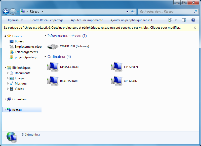 R seau windows 7 for Fenetre windows 7