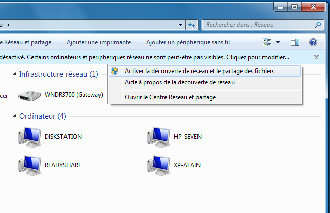 Windows 7 - Réseau
