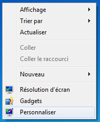 Personnaliser sous Windows 7