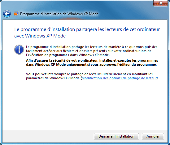 XP Mode : Installation 1