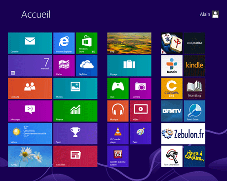 Windows 8 : Accueil
