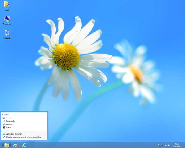 Windows 8 : Bureau