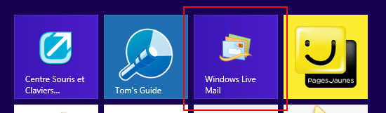 Windows Live Mail dans Modern UI