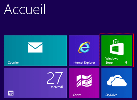 Windows 8 : Mises à jour Windows Store