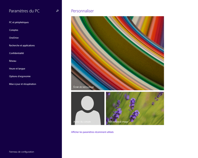 Windows 8.1 : Paramètres du PC