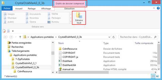 Windows 8 utilisation d compresser un fichier zip for Fenetre windows 8