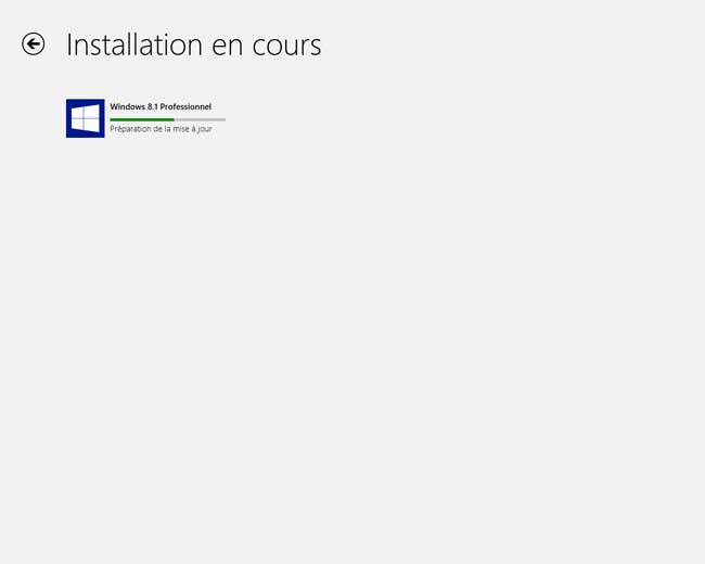 Windows 8.1 : Mise à jour